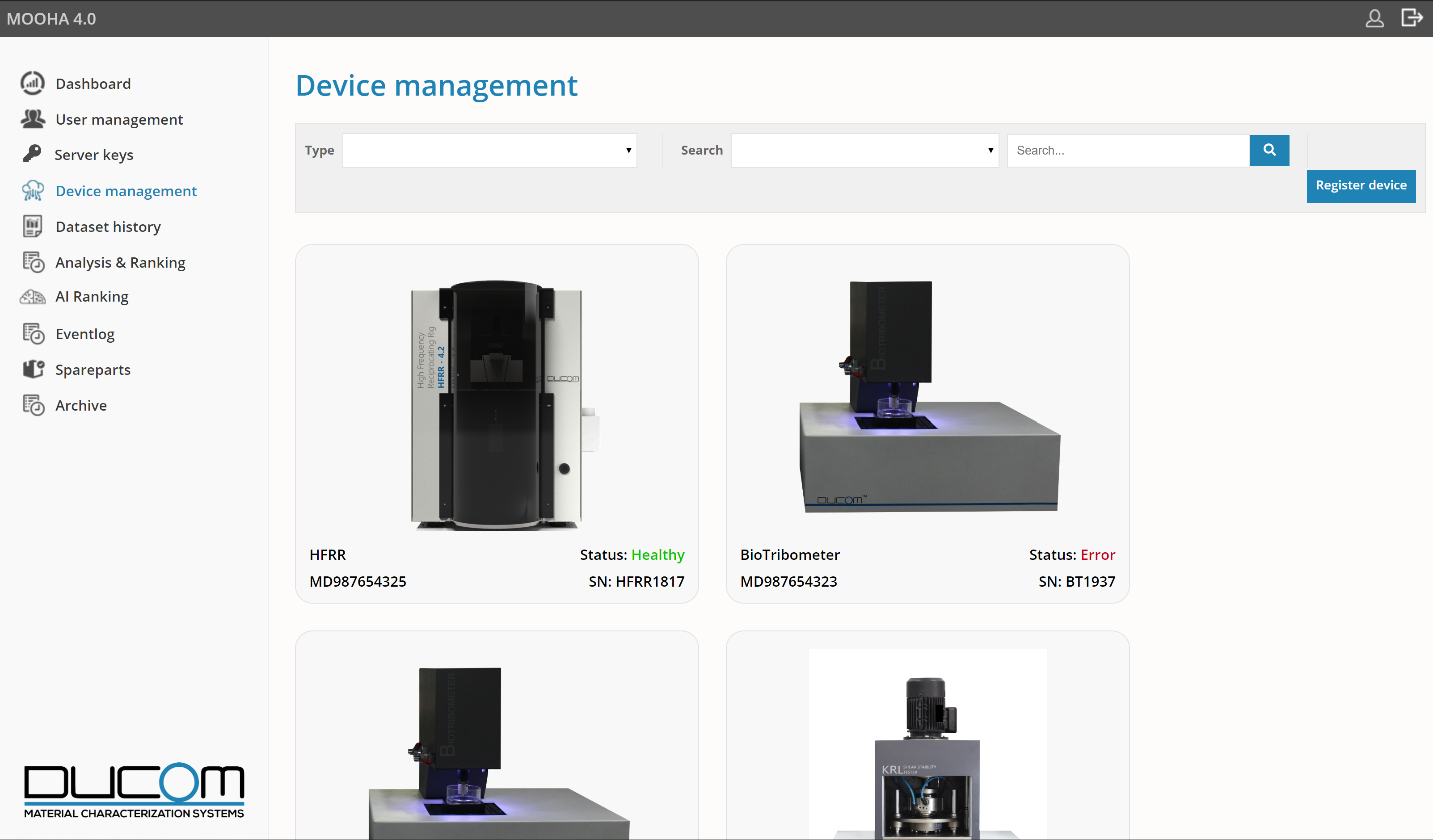 MOOHA - Device Management